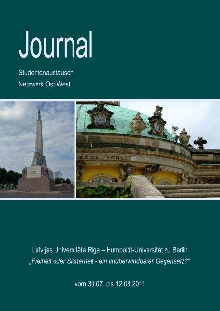 Journal Riga 2011 - Heinrich - Humboldt-Universität zu Berlin