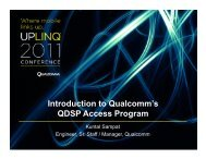 Introduction to Qualcomm's QDSP Access Program– Qualcomm ...