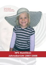 HPS Humlikon Jahresbericht 2007/2008 - bei der HPS Humlikon
