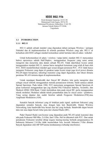 IEEE 802.11b - Teknik Elektro UGM