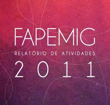 Relatório de Atividades do ano de 2011 - Fapemig
