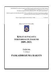 ķekavas pagasta teritorijas plānojums 2009. - Rīgas Plānošanas ...