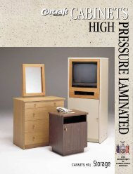 Cabinets - High Pressure Laminated - Corcraft