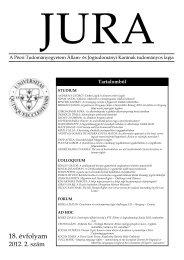 2012. évi 2. szám - Jura - Pécsi Tudományegyetem