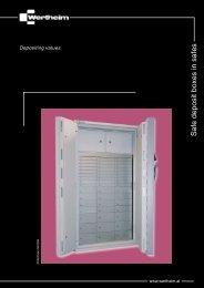 Safe deposit boxes in safes - Sefovi