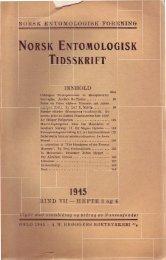 L--BIND VII - HEFTE 3 og 4 - Norsk entomologisk forening