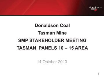 Tasman SMP Panels 10-15 Stakeholder Meeting