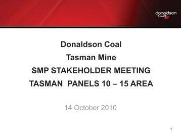 Tasman SMP Panels 10-15 Stakeholder Meeting