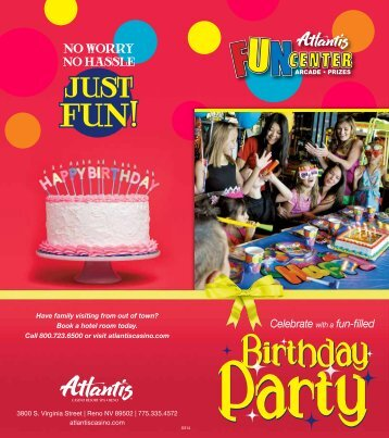 Birthday Parties - Atlantis Casino Resort