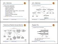 Memories §10 – Memories Taxonomy of Random Access Memory ...