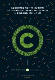 Economic Contribution of Copyright-based Industries in ... - Cupore