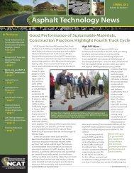 Asphalt Technology News - National Center for Asphalt Technology