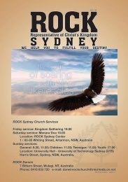 ROCK Sydney Monthly Bulletin January 2011