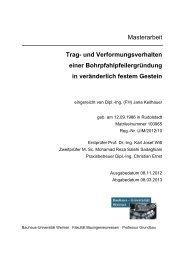 Trag- und Verformungsverhalten einer Bohrpfahl-pfeilergründung in ...