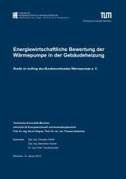Energiewirtschaftliche Bewertung der Wärmepumpe in der ...