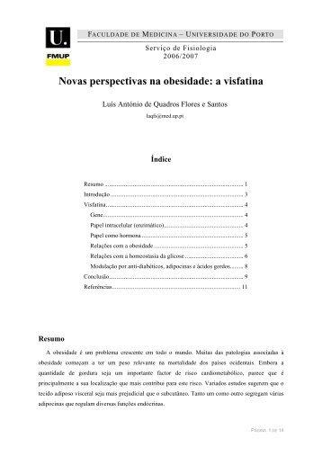 Novas perspectivas na obesidade: a visfatina - Universidade do Porto