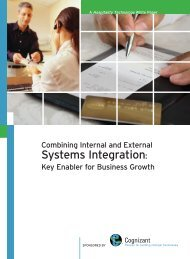 Combining Internal and External Systems Integration - Cognizant