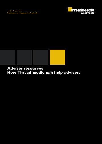 Adviser resources How Threadneedle can help advisers ...