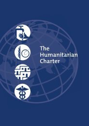 SPHERE 3 – The humanitarian charter.