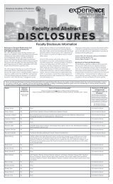 disclosures - American Academy of Pediatrics National Conference ...