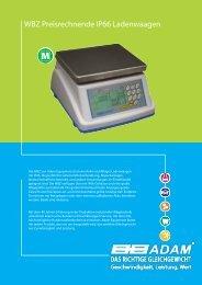 WBZ Preisrechnende IP66 Ladenwaagen - Adam Equipment