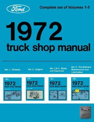 DEMO - 1972 Ford Truck Shop Manual Vol 1-5 - ForelPublishing.com