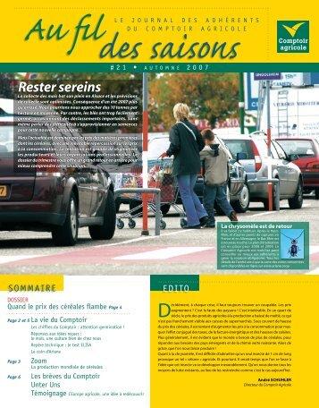 Fil Des Saisons #21 Automne 2007 - Comptoir Agricole