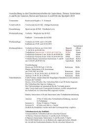 Ausschreibung zu den Einzelmeisterschaften 2010 - Kreisverein ...