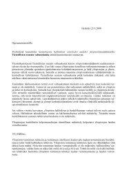 TSV:n lausunto yliopistolainsäädännön uudistamisesta
