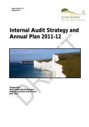 Agenda Item 11 Appendix 1 - South Downs National Park Authority
