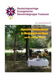 GB Juni-Aug 2013 - Deutsche Gemeindegruppe Toulouse