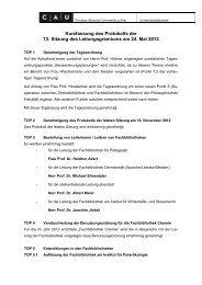 Kurzfassung Protokoll 73 - Universitätsbibliothek - Christian ...