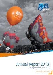 Annual Report 2013 - WEL Energy Trust