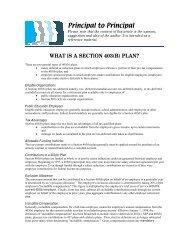Section 403(b) Plan