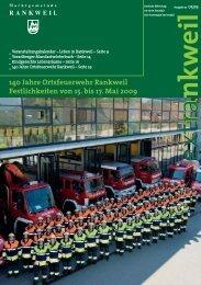 140 Jahre Ortsfeuerwehr Rankweil Festlichkeiten von 15. bis 17 ...