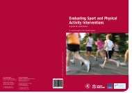 Evaluating Sport and Physical Activity Interventions - University of ...