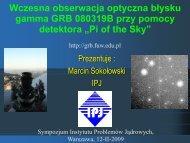 GRB - Pi of the Sky