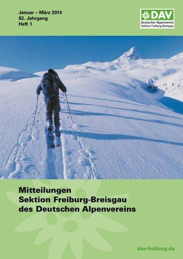 1. Quartal 2014 - Deutscher Alpenverein Sektion Freiburg im Breisgau