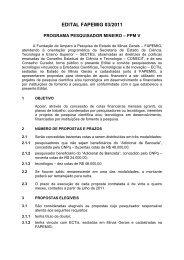 Programa Pesquisador Mineiro - Fapemig
