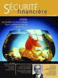avril 2001 - Chambre de la sécurité financière
