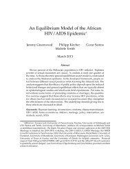 An Equilibrium Model of the African HIV/AIDS Epidemic - Cezar Santos