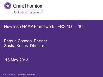 The future of Irish GAAP - Grant Thornton