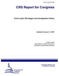 Farm Labor Shortages and Immigration Policy [Updated ... - Open CRS