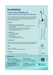 A day in the GI motility lab - Utrecht Digestive Center