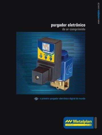 Purgador Eletrônico de ar comprimido - Raoli