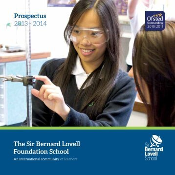 School Prospectus 2011 - Sir Bernard Lovell School