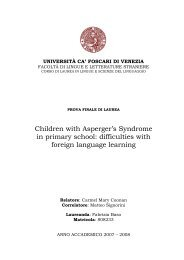 Children with Asperger's Syndrome in primary school: difficulties ...