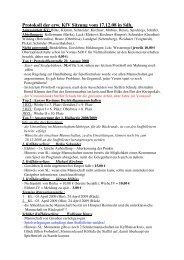Protokoll der erw. KfV Sitzung vom 17.12.08 in Sdh.