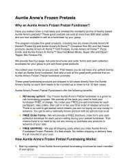 Auntie Anne's Frozen Pretzels - Easy Fundraising Ideas
