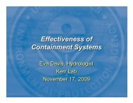 Effectiveness of Containment Systems - State Coalition for ...